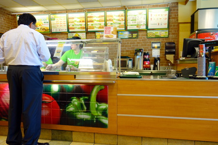 world   s largest: Subway fast food restaurant on September 5, 2013 in Toronto  Subway is the world s largest single restaurant chain with 38,181 restaurants