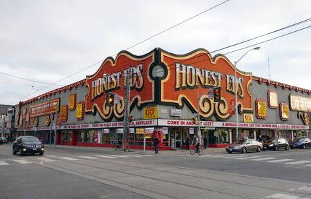 ed: Honest Ed s landmark store on September 29, 2013 in Toronto Editorial