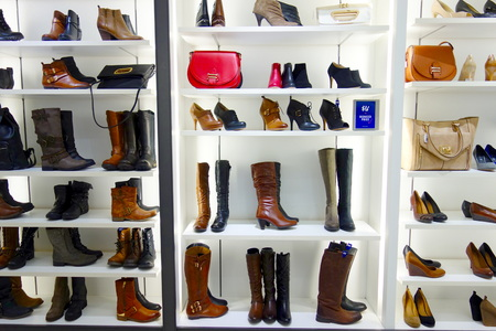 window display: Shoes store in a mall in Toronto Editorial