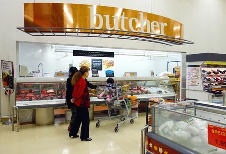 Asian supermarket on October 13, 2013 in Toronto