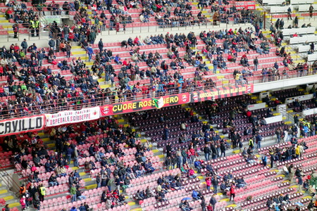 Milan, Italy - April 19, 2014  A view of the San Siro Stadium during an AC Milan home Serie A game in Milan, Italy Editorial