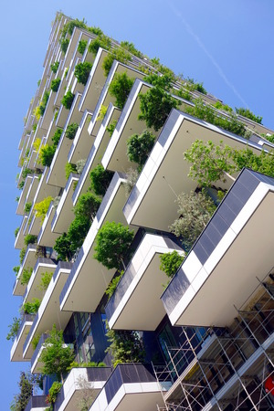 MILAN, ITALY - APRIL 26, 2014: The new Bosco Verticale building in Milan, Italy. Editorial