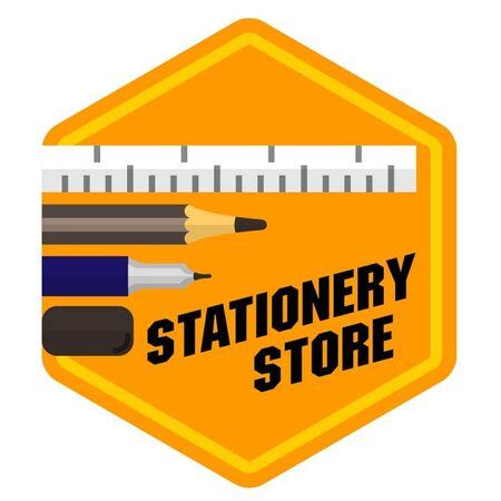 All kinds of stationery logo. Illustration