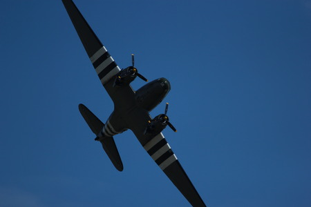 curtis: American ww2 fighter plane in flight