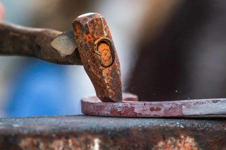 farriery: horseshoe being crafted by a skilled blacksmithfarrier