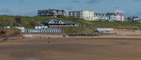 south west england: A photograph of Budes beach which is located in South West, England Stock Photo