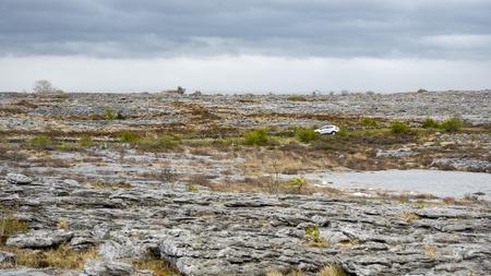 burren: the rugged landscape of Burren in Ireland Stock Photo