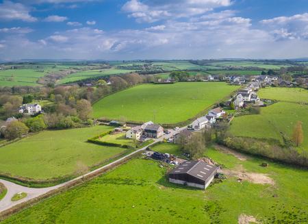 rural english farming town of Ashwater Standard-Bild - 105128371
