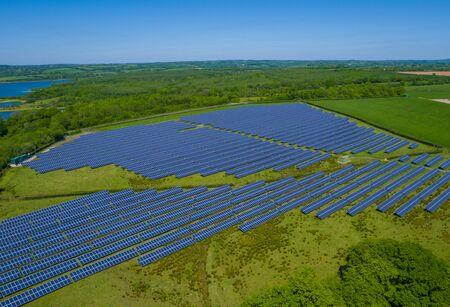 Solar Panel Power Plant Aerial Standard-Bild