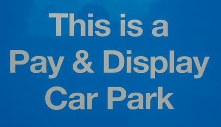 Pay and Display Auto Parkplatz Standard-Bild - 80416074