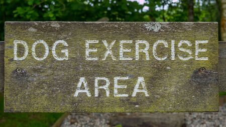 A dog exercise area sign
