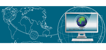 designate: computer for business online Illustration