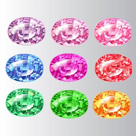 periods: gem style vector set 1 Illustration