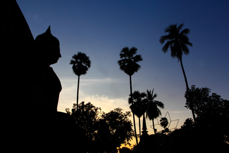 Twilight at Wat Phra Prang in Si Satchanalai Historical Park Amphoe Si Satchanalai Sukhothai Thailand photo