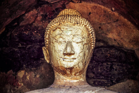 One of the city s UNESCO World Heritage Site  Face Buddha at Wat Chang Lomin in Si Satchanalai Historical Park Sukhothai photo