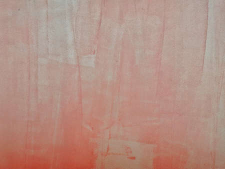 Abstract background red color old style on concrete wall. Paint color art vintage style