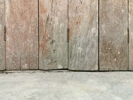 Old wooden wall and cement wall.