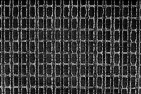 Close-up van het oude type luidspreker weven met draad. Retro luidsprekerbehang.