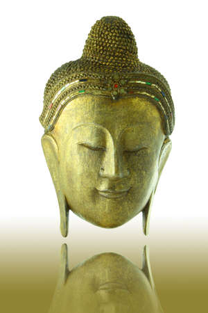 Gold Buddha head on shadow background  Stock Photo - 8203496