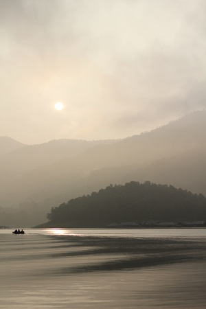 Morning at Mae Ngud dam,Chiangmai Thailand photo