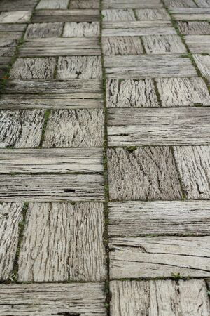 Wooden pathway Stock Photo