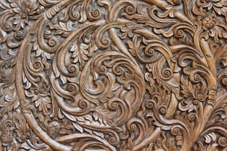 wood carving: Asia wood sculpture