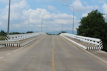 Road bridge on Mae Ping river,Chiengmai Thailand