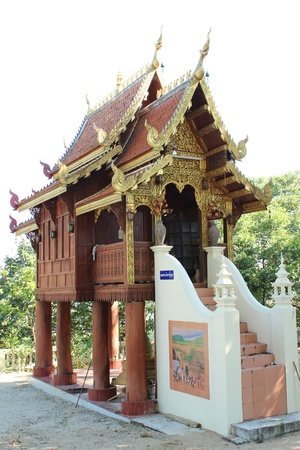 Hall for keeping scripture,Wat Phratat doi noi,Chiangmai Thailand photo