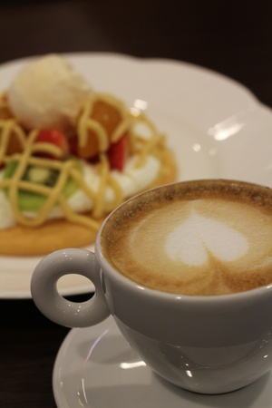 coffee with pancake photo