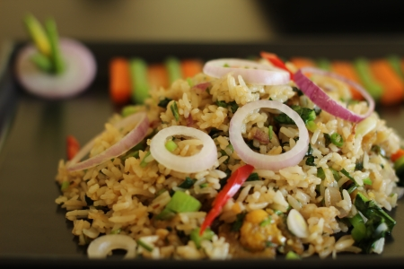 Thai cuisine - Fried rice with dried fish