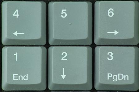 teclado num�rico: Teclado num�rico Foto de archivo