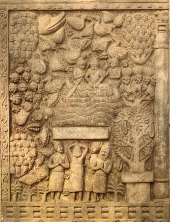 石彫刻寺院は、ワット ウモーン、チェンマイ、タイ