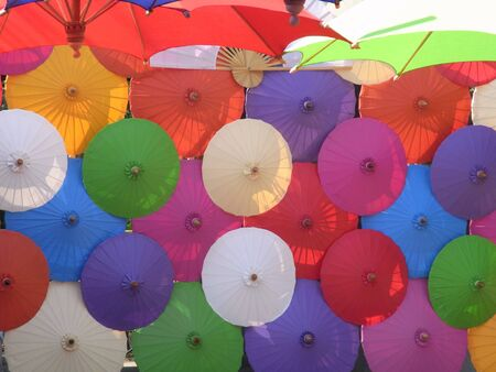 Thai umbrella Stock Photo - 18147862