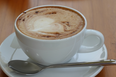 Hot cappuccino photo