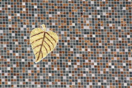 Tiled mosaic of gold leaf on wall,Phra Mahathat Napha Methanidon,Doi Inthanon,Chiangmai Stock Photo - 18350040