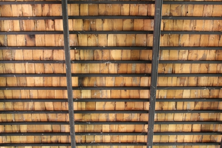 rafters: wooden roof structure Stock Photo