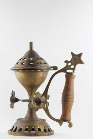 Brass oil lamp photo