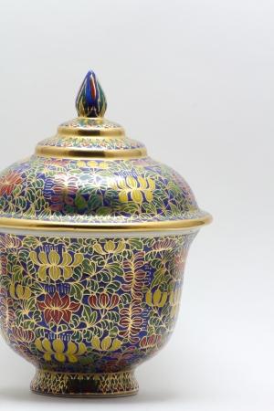Rustic handmade pot photo