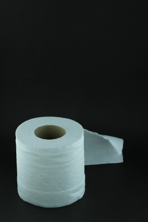 Tissue roll on black background