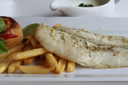 Fish steak photo