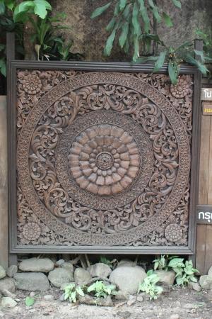 木彫り 写真素材