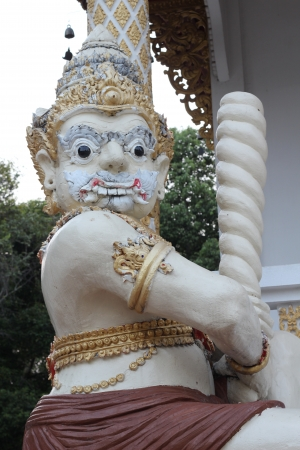 Temple giant guardian, Watpadarapirom, Maerim, Chiangmai, Thailand photo