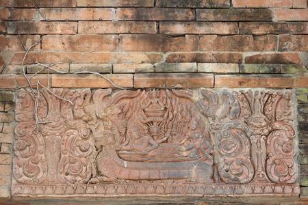 Thai art on stone plate
