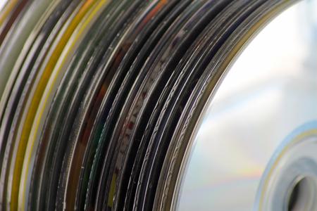 rewrite: A Pack of CDs close up shot.