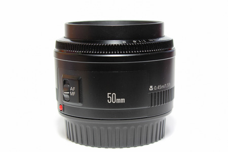 A 50mm camera lens  Stock Photo