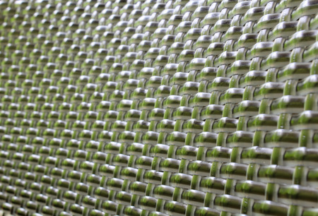 Background of gray plastic weave pattern. Stock Photo