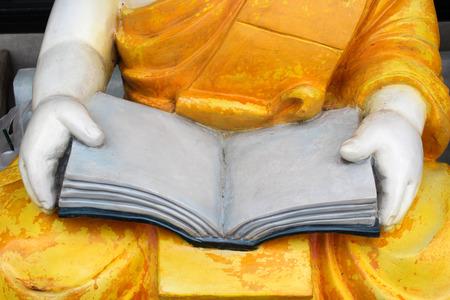 ordinate: Buddha monk statue in Cherntawan International Meditation Center, Chiangrai, Thailand.