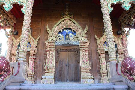 rom: Thai temple gate at Wat Rom Luang, Maetang, Chiangmai, Thailand.