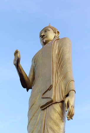 Buddha statue in Wat Mok Khan Lan, Chomthong, Chiangmai, Thailand. photo