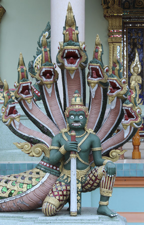 rom: Temple giant guardian in Wat Rom Luang, Maetang, Chiangmai, Thailand.